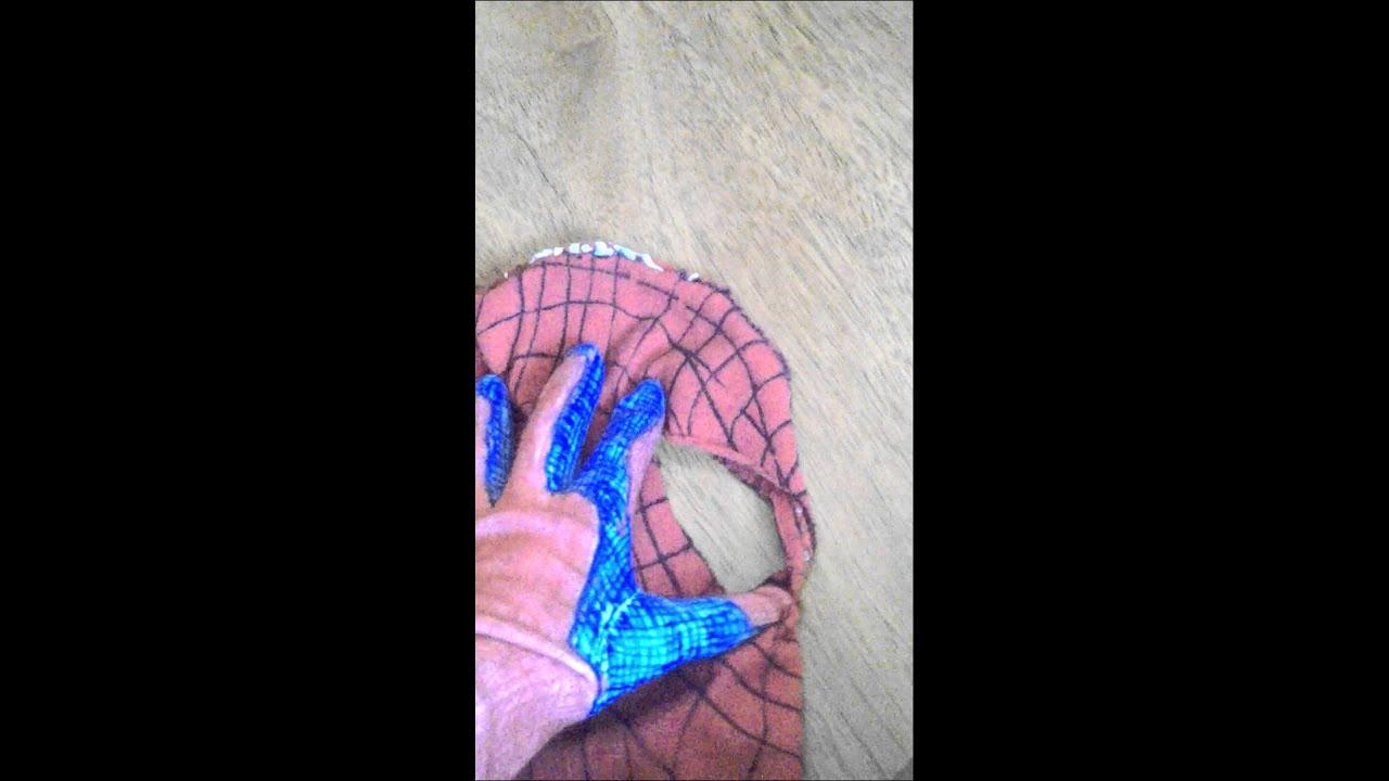 Como hacer la mascara del hombre ara a youtube - Como hacer tela de arana ...