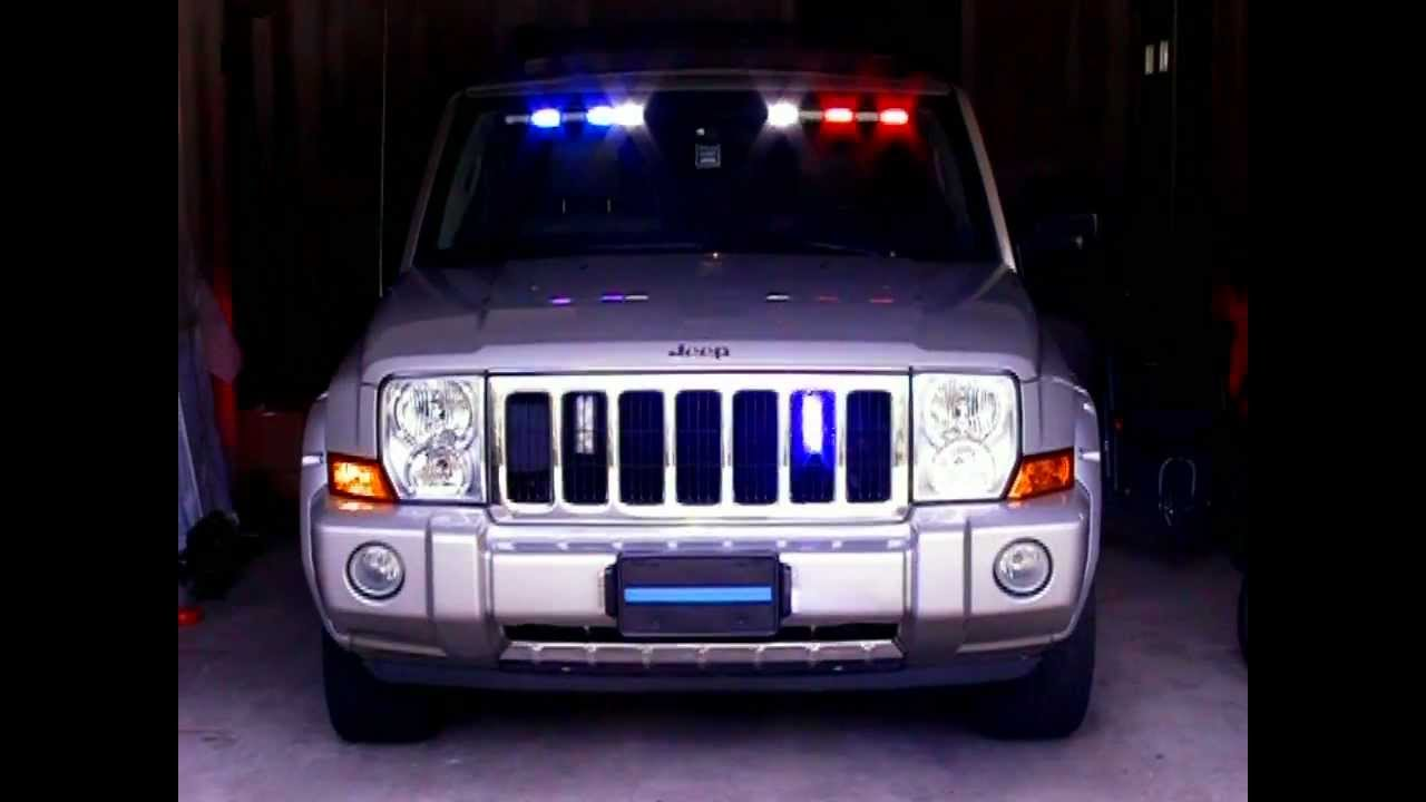 Elp Jeep Commander With Emergency Led Lights Youtube