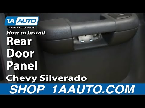 How To Install Remove Rear Door Panel 2007-13 Chevy Silverado Extended Cab