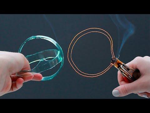 Как разрезать СТЕКЛО ПРОВОЛОКОЙ/How to cut glass with a wire