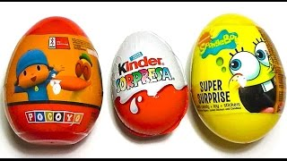 Kinder Sorpresa huevos Disney Juego Frozen Doh Huevo Peppa Pig Hello Kitty 3gp