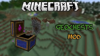 Minecraft: TAKE YOUR HOUSE WITH YOU ON THE GO! (Geochest Mod Showcase)