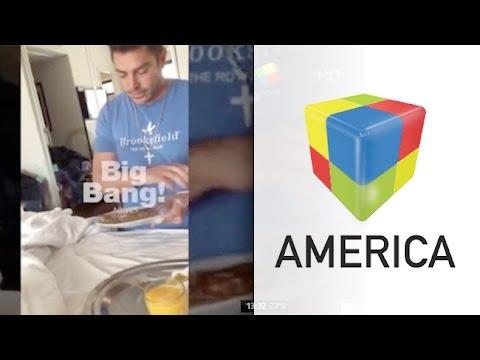 Videos: Matías Alé fue grabado mientras le habla a un omelette