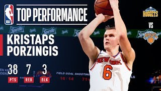 Kristaps Porzingis ELECTRIFIES The Garden Crowd With a Career High 38 Points vs. The Denver Nuggets