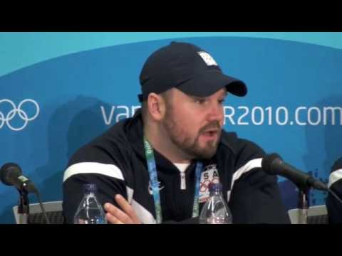 Steven Holcomb at Olympic U.S. Bobsled Press Conference in Vancouver 2010