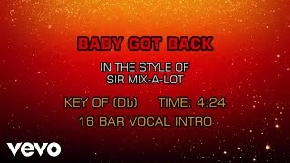 Karaoke Smash Baby Got Back In The Style Of Sir Mix