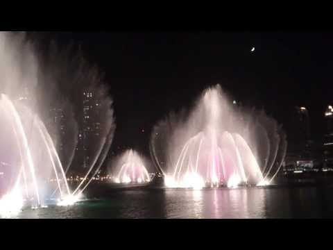 Burj Khalifa Fountain (The Dubai Fountain) - Time to Say Goodbye...