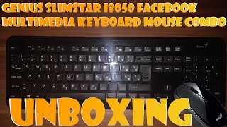 Genius SlimStar i8050 Facebook Multimedia Keyboard Mouse Combo Unboxing (UHD - 4K !)