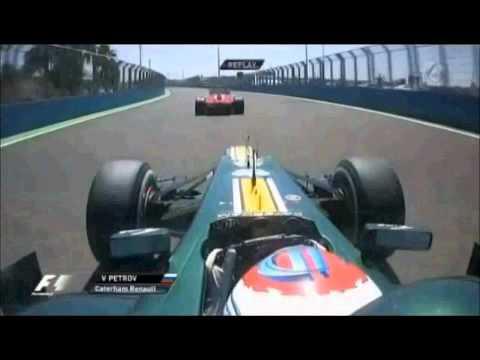 Petrov adelanta a Massa en el GP Europa 2012 F1 - Petrov overtaking Massa