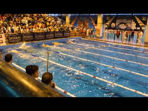 200 libres masculinos en el campeonato gallego absoluto de natación en piscina corta (Ferrol)