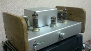 ECC83 and EL84 SE tube amplifier