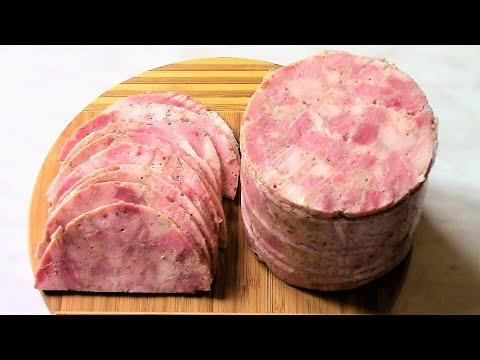 Ветчина ЛАЙТ из куриной грудки и постной свинины . Вкусный рецепт ветчины .