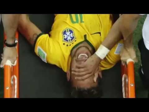 Neymar Verletzung - Lendenwirbelbruch nach foul von Zuniga gegen Kolumbien