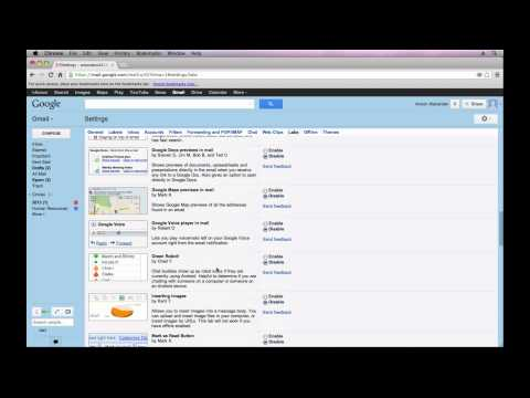 Gmail Tutorial 2013 - Gmail Labs (Part 6)