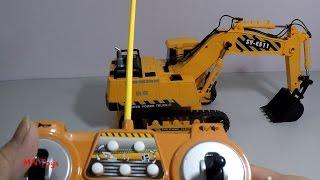 Mở hộp đồ chơi xe máy xúc điều khiển từ xa xoay 660 ° Remote Control Vehicle MN Toys