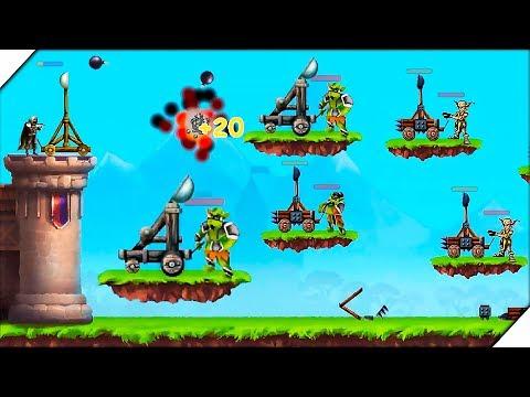 КАТАПУЛЬТА ПРОТИВ ВСЕХ -  Игра КАТАПУЛЬТА - защитите башню и замок. Игры на Андроид