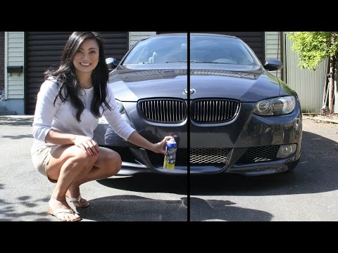 How to Plasti Dip Car Grille - Black Out Mesh Grill on BMW - Balloon method