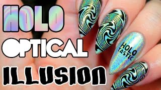 HOW TO: HOLO OPTICAL ILLUSION ACRYLIC NAILS TUTORIAL