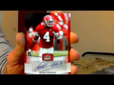 leaf draft football pack break mojo marc barron tydreke powell auto alabama carolina