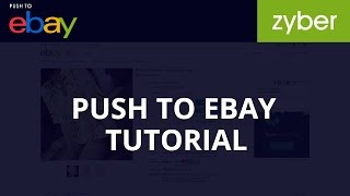 Push To Ebay Tutorial - How to Sell on Ebay from Shopify