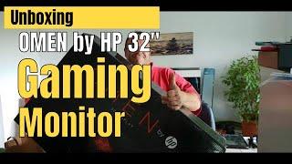 Unboxing OMEN by HP 32 Gaming Monitor German fettes Display zum Zocken