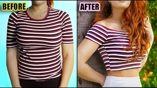 7 DIY IDEAS FOR YOUR OLD CLOTHES! (NO-SEW)