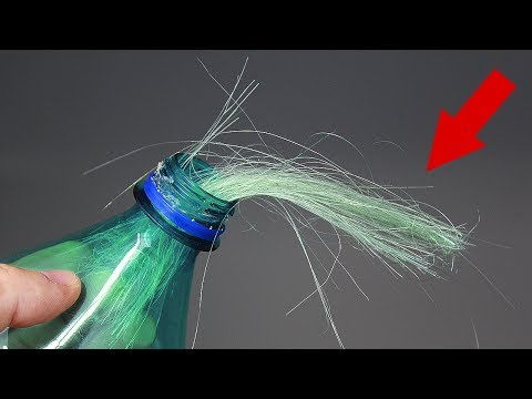 Как сделать волосы из пластиковой бутылки/How to make threads from plastic bottles