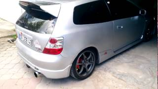 Ep3 Type R Launch Burnout   HONDA VTEC Power