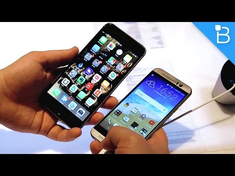 HTC One M9 vs iPhone 6 Plus: Size Comparison
