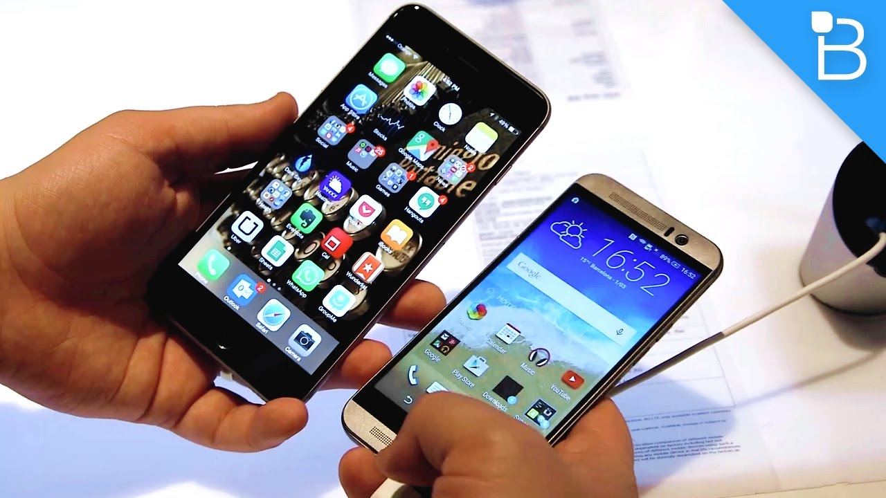 htc one m9 vs iphone 6 plus size comparison youtube. Black Bedroom Furniture Sets. Home Design Ideas