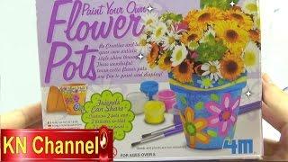 Đồ chơi trẻ em Bé Na tô tượng Chậu hoa thật Paint Flower Pot and Creative Kids toys