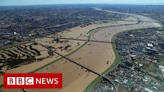 Japan deploys military after deadly typhoon - BBC News