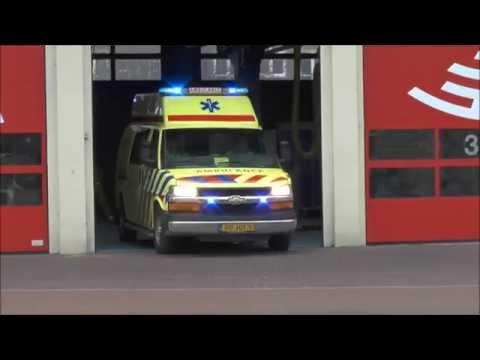 Spoed uitrukken ambulances Amsterdam vanaf post Nico