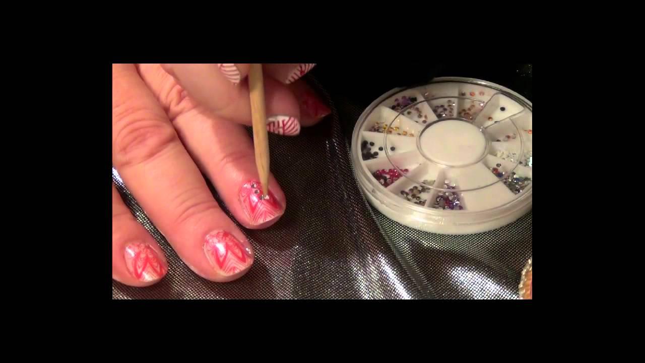 Le Strass ! par Nail art boutique.fr - YouTube