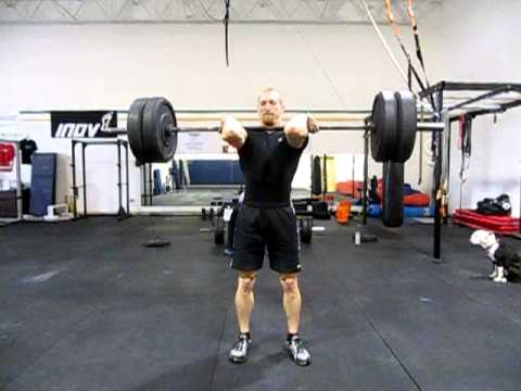 225lb Power Clean x5 front view, slow motion Image 1
