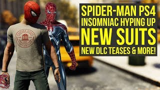 Spider Man PS4 Update DELAYED, Insomniac Hyping AWESOME DLC SUITS & Way More! (SpiderMan PS4 DLC)