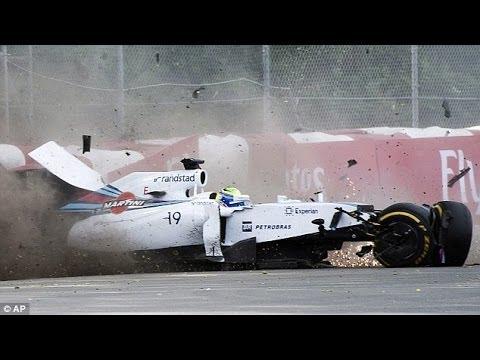 Felipe Massa & Sergio Perez Crash Canada [HD]