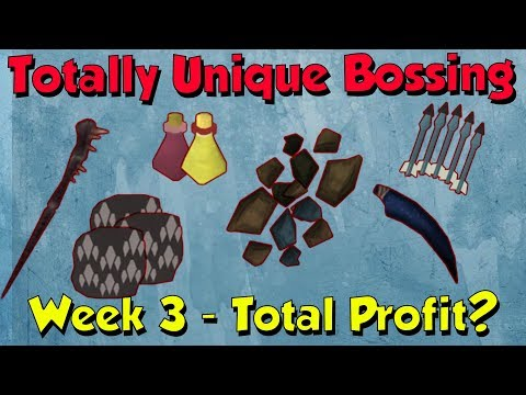 Bossing Week 3, Big Loot! [Runescape 3] Totally Unique Bossing