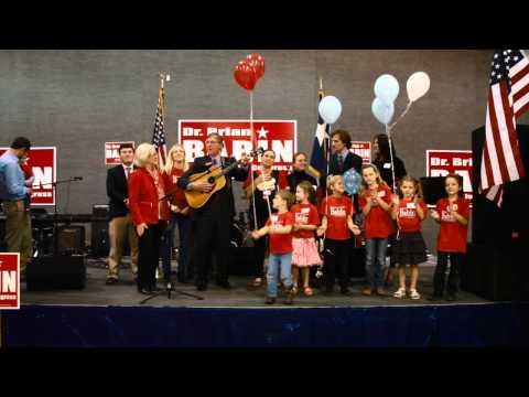 Brian Babin's family joins him for a song