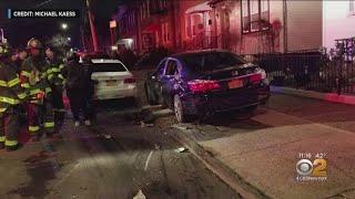 Garbage Truck Destroys Bronx Cars