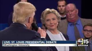 WOAW. Presidential Debate - DT: Obama signed on with the devil - Hillary Clinton vs. Donald Trump