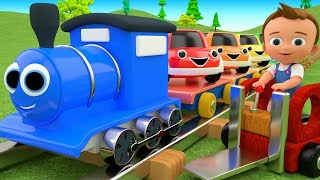 Colors for Children to Learn with Toy Cars Train Transport Toys 3D Kids Little Baby Educational