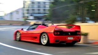 Ferrari F50 TERRORIZES MONACO ! CRAZY SOUND !