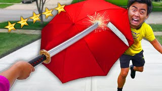 This UMBRELLA Cannot Be DESTROYED! (UNBREAKABLE UMBRELLA)