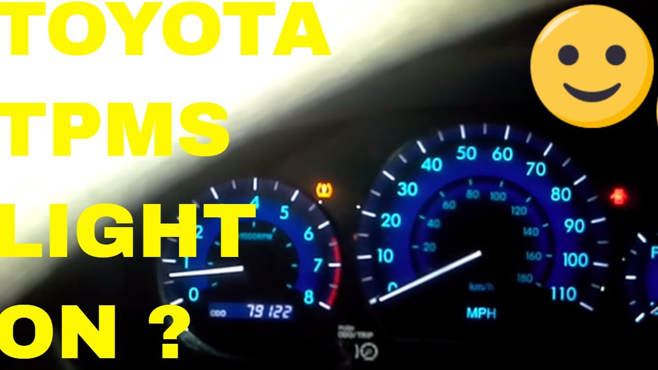 How To Reset Tire Pressure Warning Light On A Toyota YouTube