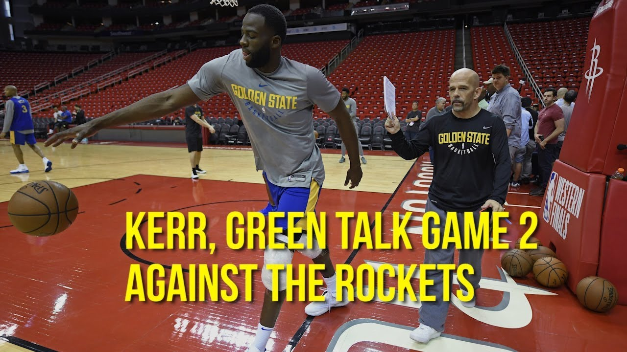 NBA Playoffs: Kerr, Green talk game 2 against the Rockets
