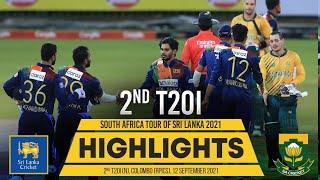 2nd T20I Highlights | Sri Lanka vs South Africa 2021