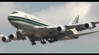 Evergreen International 747-400 Landing at Chicago O'Hare
