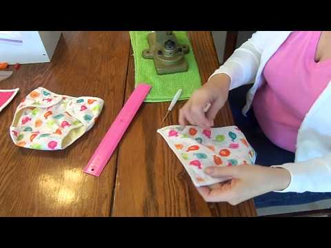 How to put snaps on a cloth diaper or cover