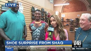 Man who put shoes on Shaq's feet for 30 years helps teen
